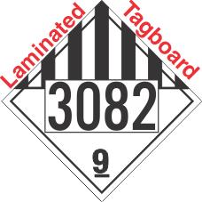 Miscellaneous Dangerous Goods Class 9 UN3082 Tagboard DOT Placard