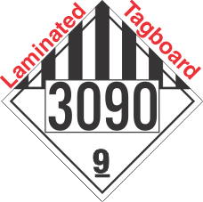 Miscellaneous Dangerous Goods Class 9 UN3090 Tagboard DOT Placard