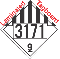 Miscellaneous Dangerous Goods Class 9 UN3171 Tagboard DOT Placard