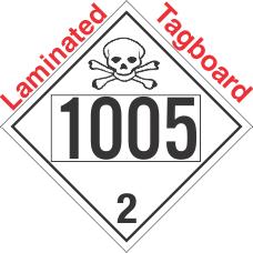 Toxic Gas Class 2.3 UN1005 Tagboard DOT Placard