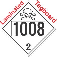 Toxic Gas Class 2.3 UN1008 Tagboard DOT Placard