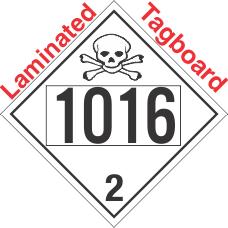 Toxic Gas Class 2.3 UN1016 Tagboard DOT Placard