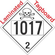 Toxic Gas Class 2.3 UN1017 Tagboard DOT Placard