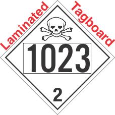 Toxic Gas Class 2.3 UN1023 Tagboard DOT Placard