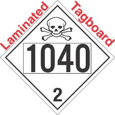 Toxic Gas Class 2.3 UN1040 Tagboard DOT Placard