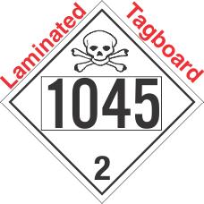 Toxic Gas Class 2.3 UN1045 Tagboard DOT Placard
