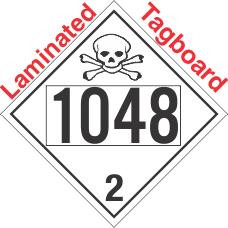 Toxic Gas Class 2.3 UN1048 Tagboard DOT Placard