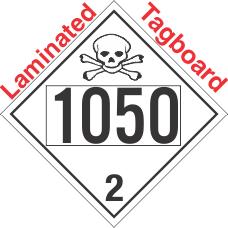 Toxic Gas Class 2.3 UN1050 Tagboard DOT Placard