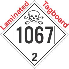 Toxic Gas Class 2.3 UN1067 Tagboard DOT Placard