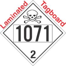 Toxic Gas Class 2.3 UN1071 Tagboard DOT Placard