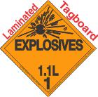 Explosive Class 1.1L Tagboard DOT Placard