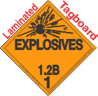 Explosive Class 1.2B Tagboard DOT Placard