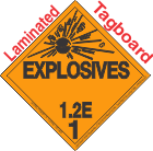 Explosive Class 1.2E Tagboard DOT Placard