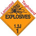 Explosive Class 1.2J Tagboard DOT Placard