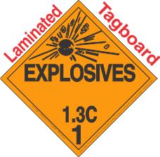 Explosive Class 1.3C Tagboard DOT Placard