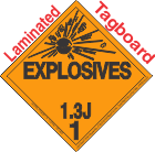 Explosive Class 1.3J Tagboard DOT Placard