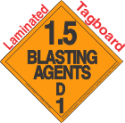 Explosive Class 1.5D Tagboard DOT Placard