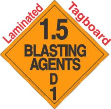 Explosive Class 1.5D Tagboard DOT Placard
