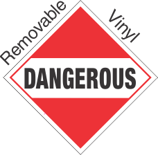 Standard Worded Dangerous (Mixed Load) Removable Vinyl Placard