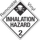 Standard Worded Inhalation Hazard Class 2.3 Removable Vinyl Placard