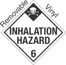 Standard Worded Inhalation Hazard Class 6.1 Removable Vinyl Placard