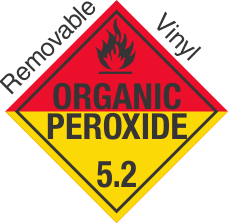 Standard Worded Organic Peroxide Class 5.2 Removable Vinyl Placard