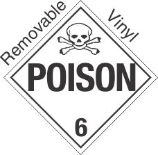 Standard Worded Poison Class 6.2 Removable Vinyl Placard