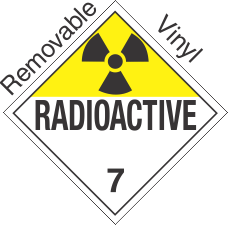 Standard Worded Radioactive Class 7 Removable Vinyl Placard