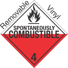 Standard Worded Spontaneously Combustible Class 4.2 Removable Vinyl Placard