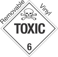 Standard Worded Toxic Class 6.2 Removable Vinyl Placard