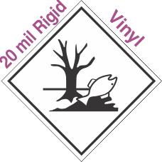 Environmentally Hazardous Placard 20mil Rigid Vinyl Placard