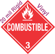 Standard Worded Combustible Class 3 20mil Rigid Vinyl Placard