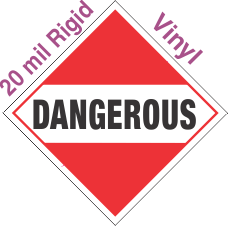 Standard Worded Dangerous (Mixed Load) 20mil Rigid Vinyl Placard