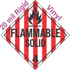 Standard Worded Flammable Solid Class 4.1 20mil Rigid Vinyl Placard