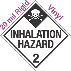 Standard Worded Inhalation Hazard Class 2.3 20mil Rigid Vinyl Placard