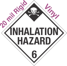 Standard Worded Inhalation Hazard Class 6.1 20mil Rigid Vinyl Placard