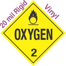 Standard Worded Oxygen Class 2 20mil Rigid Vinyl Placard