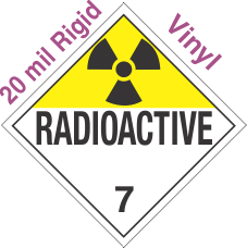 Standard Worded Radioactive Class 7 20mil Rigid Vinyl Placard