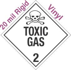 Standard Worded Toxic Gas Class 2.3 20mil Rigid Vinyl Placard