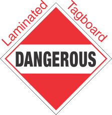 Standard Worded Dangerous (Mixed Load) Laminated Tagboard Placard