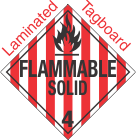 Standard Worded Flammable Solid Class 4.1 Laminated Tagboard Placard