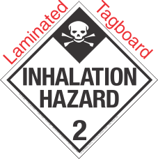 Standard Worded Inhalation Hazard Class 2.3 Laminated Tagboard Placard