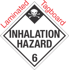 Standard Worded Inhalation Hazard Class 6.1 Laminated Tagboard Placard