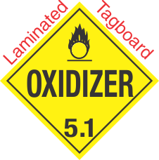 Standard Worded Oxidizer Class 5.1 Laminated Tagboard Placard