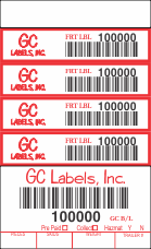 Freight Transport Pro Label Book 4.5 inch 5 Labels per Page