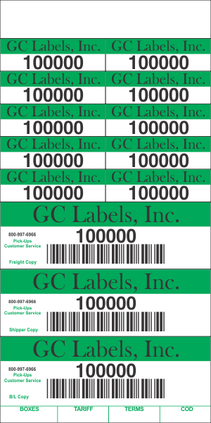 Freight Transport Pro Label Book 5 5 Inch 13 Labels Per Page