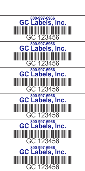 Freight Transport Pro Label Book 5 5 inch 6 Labels per Page