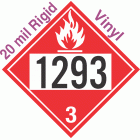 Flammable Class 3 UN1293 20mil Rigid Vinyl DOT Placard