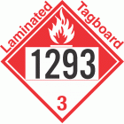 Combustible Class 3 UN1293 Tagboard DOT Placard