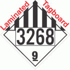 Miscellaneous Dangerous Goods Class 9 UN3268 Tagboard DOT Placard